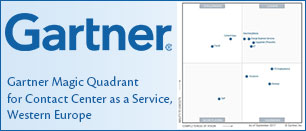 Gartner Magic Quadrant for Contact Center as a Service, Western Europe